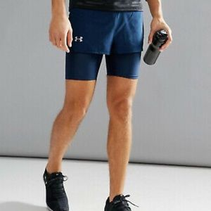 Under Armour 2 in 1 Run Fitted Heat Gear Shorts SM